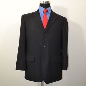 Santorelli 40S Sport Coat Blazer Suit Jacket Black